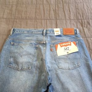 Nwt Levi's 517 bootcut Cropped Jeans 32